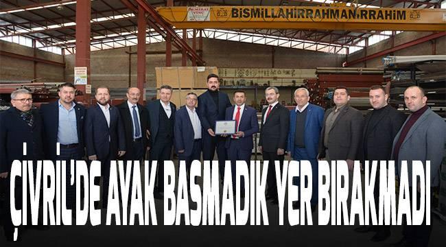 DTO Başkanı Erdoğan, Çivril'de Protokol Üyeleri ile Esnafı Ziyaret Etti
