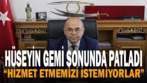 Serinhisar Belediye Başkanı Hüseyin Gemi sonunda patladı.