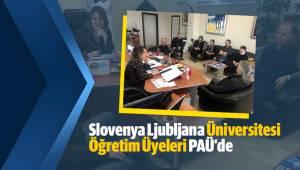 Slovenya Ljubljana Üniversitesi Öğretim Üyeleri PAÜ'de