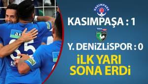 Süper Lig: Kasımpaşa: 1 - Denizlispor: 0 (İlk yarı)