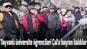 Tayvanlı üniversite öğrencileri 10 günde Denizli'yi tanıdılar.
