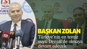 Türkiye'nin en temiz suyu Denizli'de olmaya devam edecek