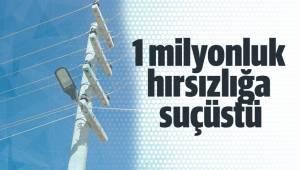 1 milyonluk hırsızlığa suçüstü