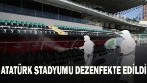 Atatürk Stadyumu dezenfekte edildi