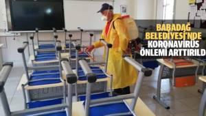 BABADAĞ BELEDİYESİ'NDE KORONAVİRÜS ÖNLEMİ ARTTIRILDI