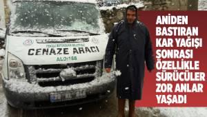 Buldan'ın yüksek kesimlerinde kar yağışı etkili oldu