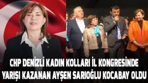 CHP Kadın Kolları İl Kongresi'nde yarışı kazanan Ayşen Sarıoğlu Kocabay oldu
