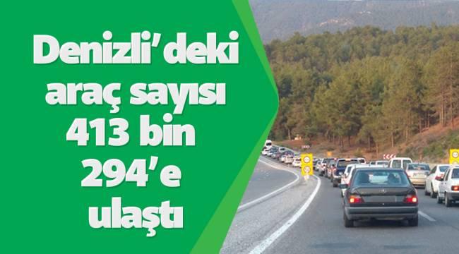 Denizli'deki araç sayısı 413 bin 294'e ulaştı