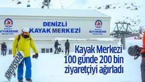 Kayak Merkezi 100 günde 200 bin ziyaretçiyi ağırladı