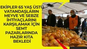 Pamukkale Belediyesi risk grubundaki vatandaşlar için pazara çıktı