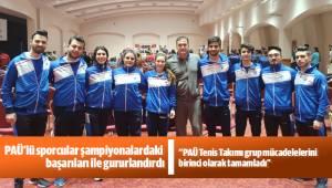 PAÜ'lü sporcular şampiyonalardaki başarıları ile gururlandırdı