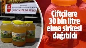 Büyükşehir çiftçilere 30 bin litre elma sirkesi dağıttı