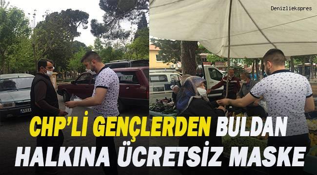 CHP'li gençlerden Buldan halkına ücretsiz maske