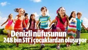 Denizli nüfusunun 248 bin 511'i çocuklardan oluşuyor