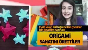 Öğretmen adayları çocuklar için origami sanatını gösterdi