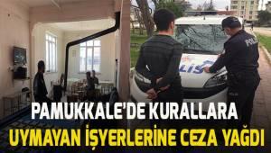 Pamukkale'de korona tedbirlerine uymayan 6 işyeri ve 138 kişiye ceza yağdı