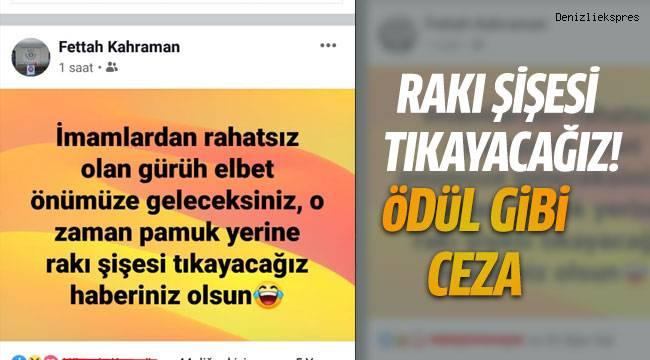 Sosyal medya hesabından yaptığı paylaşımla büyük tepki tepki çeken imama ödül gibi ceza verildi.