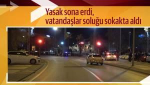 Yasak sona erdi, vatandaşlar soluğu sokakta aldı