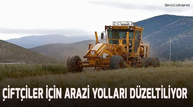 Çiftçiler için arazi yolları düzeltiliyor