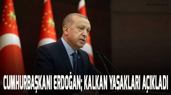 Cumhurbaşkanı Erdoğan Kalkan Yasakları Açıkladı