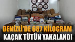 Denizli'de 687 kilogram kaçak tütün ele geçirildi