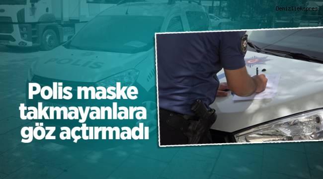 Denizli'de polis maske takmayanlara göz açtırmadı