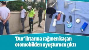 'Dur' ihtarına rağmen kaçan otomobilden uyuşturucu çıktı