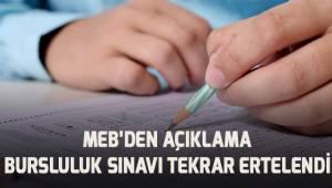 MEB'den açıklama: Bursluluk sınavı tekrar ertelendi