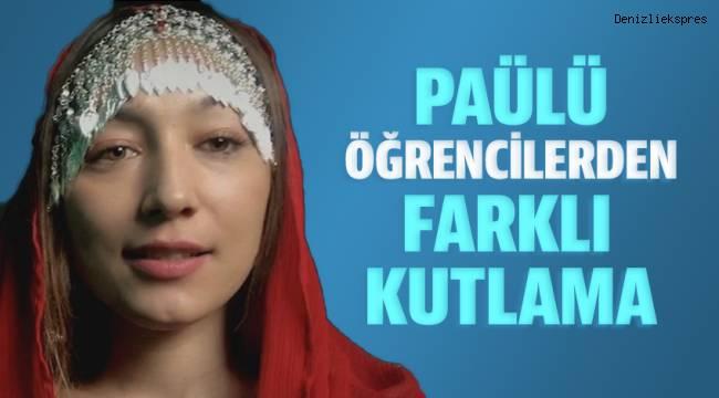 PAÜ'nün dünyanın farklı ülkelerindeki öğrencileri bayramı 'Türkçe' videoyla kutladılar