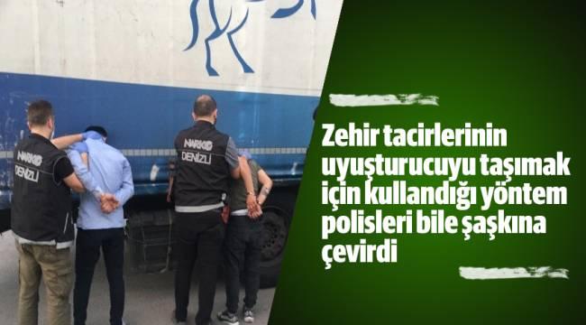 Zehir tacirlerinin uyuşturucuyu taşımak için kullandığı yöntem polisleri bile şaşkına çevirdi