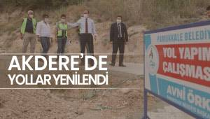 AKDERE'DE YOLLAR YENİLENDİ