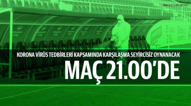 Beşiktaş karşılaşması öncesi stadyum dezenfekte edildi