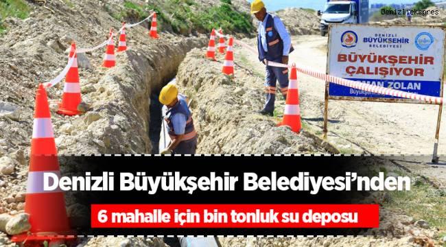 Büyükşehirden 6 mahalle için bin tonluk su deposu