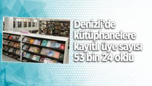 Denizli'de kütüphanelere kayıtlı üye sayısı 53 bin 24 oldu