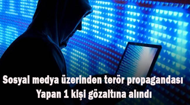 Denizli'de sosyal medya üzerinden terör propagandası yapan 1 kişi gözaltına alındı
