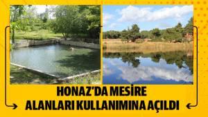 HONAZ'DA MESİRE ALANLARI KULLANIMINA AÇILDI