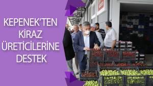 KEPENEK'TEN KİRAZ ÜRETİCİLERİNE DESTEK