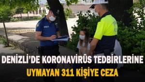 Korona virüs tedbirlerine uymayan 311 kişiye 279 bin 900 TL ceza kesildi
