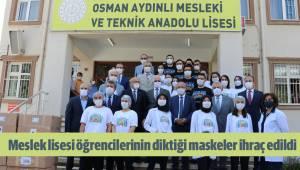 Meslek lisesi öğrencilerinin diktiği maskeler ihraç edildi
