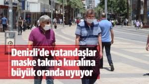 Vatandaşlar maske takma kuralına büyük oranda uyuyor