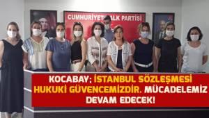 CHP Denizli Kadın Kolları İl başkanı Kocabay; Mücadelemiz devam edecek