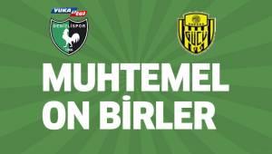 Denizlispor - Ankaragücü maçının muhtemel 11'leri