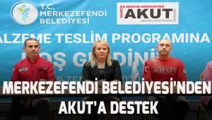 MERKEZEFENDİ BELEDİYESİ'NDEN AKUT'A DESTEK