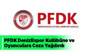 PFDK Denizlispor Kulübüne ve Oyunculara Ceza Yağdırdı