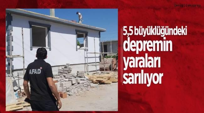 5,5 büyüklüğündeki depremin yaraları sarılıyor