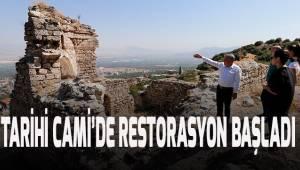 500 YILLIK TARİHİ CAMİ'DE RESTORASYON BAŞLADI