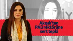 Akışık'tan PAÜ rektörüne sert tepki