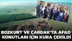 Bozkurt ve Çardak'ta AFAD konutları için kura çekimi yapıldı