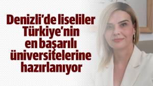 Denizli'de liseliler Türkiye'nin en başarılı üniversitelerine hazırlanıyor