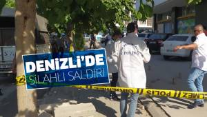 Denizli'de silahlı saldırı: 1'i polis 2 yaralı